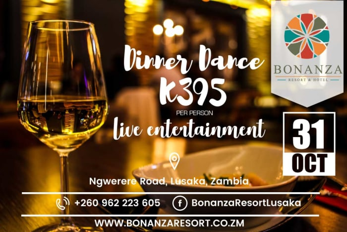Dinner dance with live band entertainment