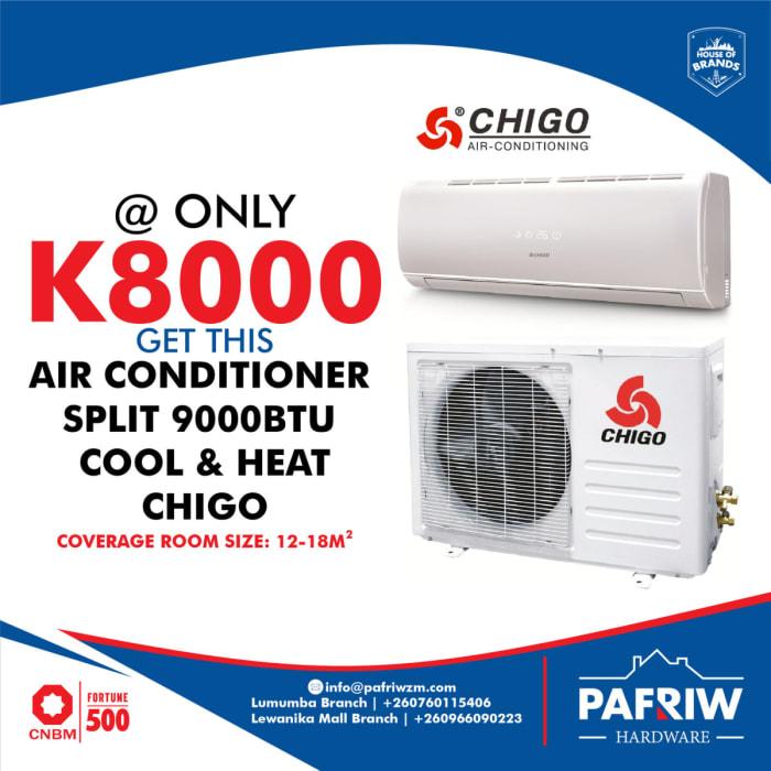 Get great deals on the Chigo 9000BTU Air Conditioner