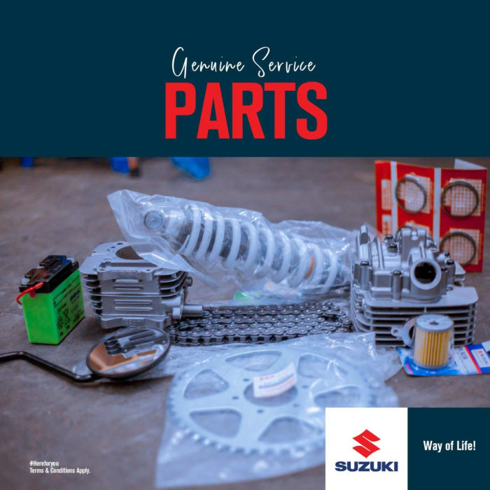 Brand new spare parts for Suzuki motor vehicles and other vehicle models
