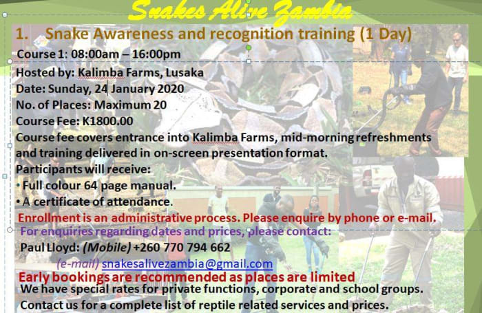 Snake Awareness & Recognition Training