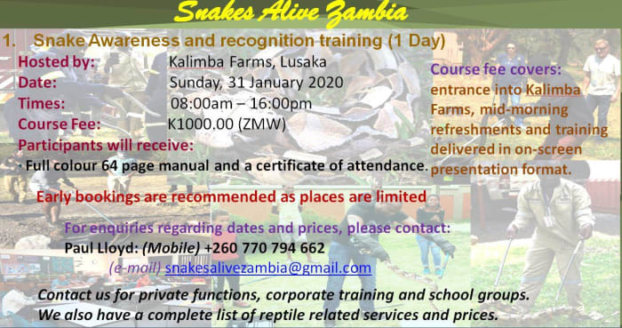 Snake Awareness & Recognition Training (1 day)