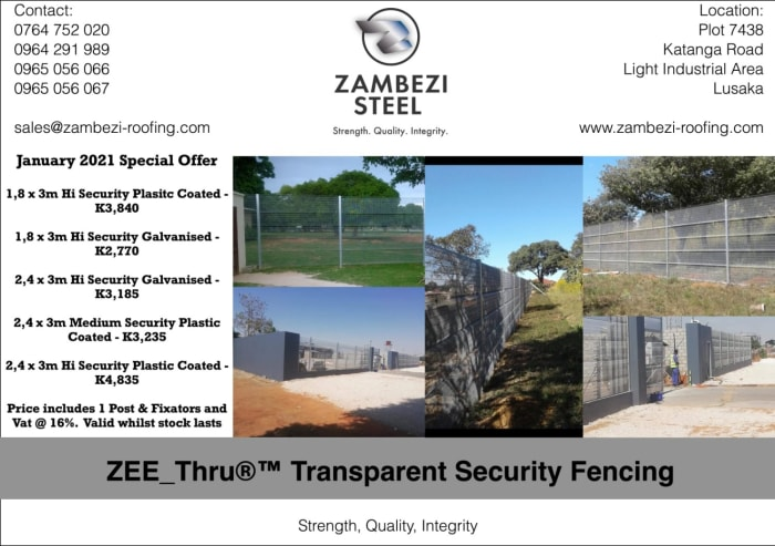 January 2021 special offer on ZEE_Thru®™ Transparent Security fencing