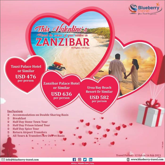 Celebrate Valentines day in Zanzibar - 4 nights - 5 days