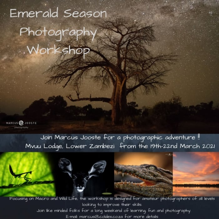 Join Marcus Jooste for a photographic adventure