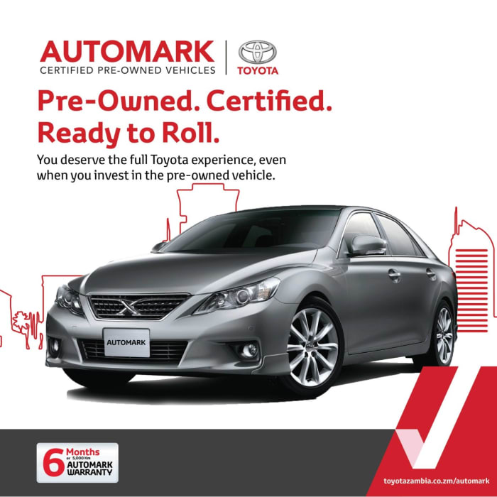 Did you know that Automark is a certified pre-owned brand for Toyota Zambia?