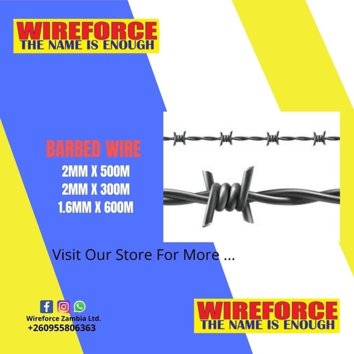 Visit Wireforce for all your barbed wire needs!