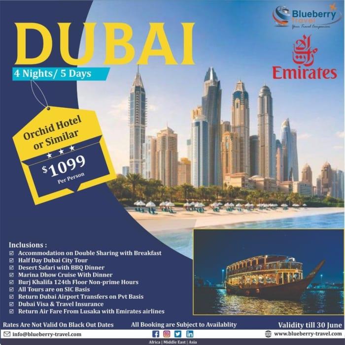 Latest package for Dubai