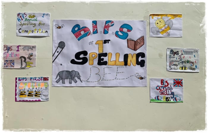 BIPS's first spelling bee competition