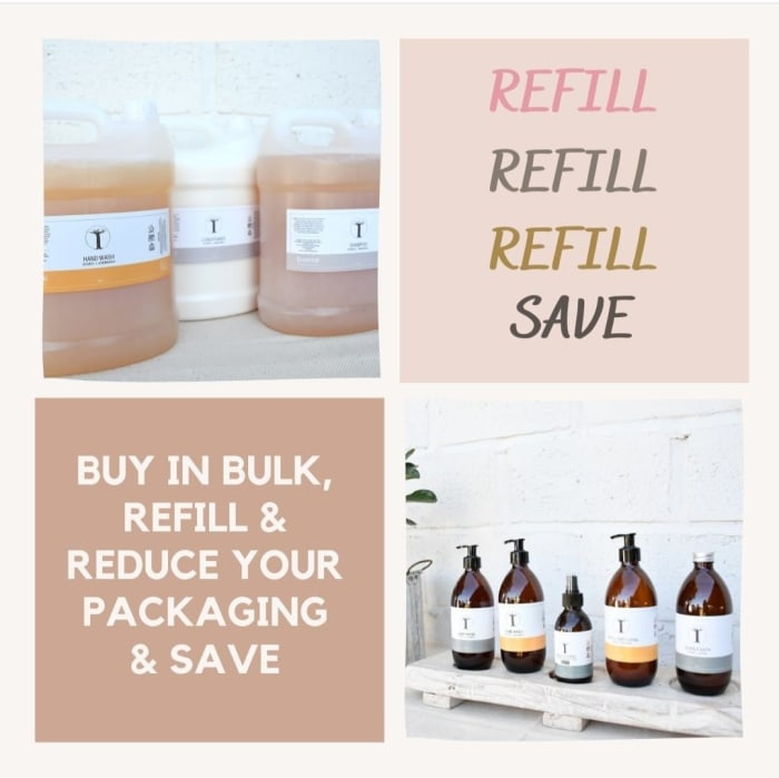 Buy in bulk, refill and save!