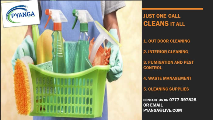 For your professional domestic and commercial cleaning call Pyanga!
