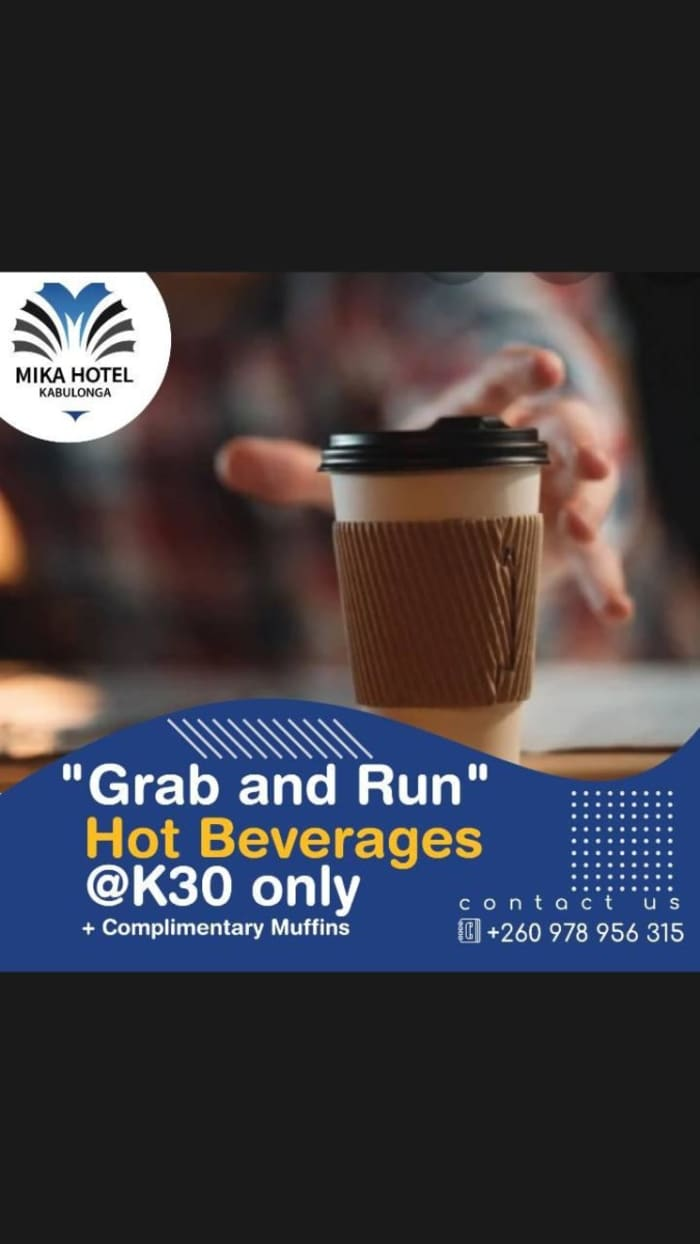 """""""Grab and run """" hot beverage special"""