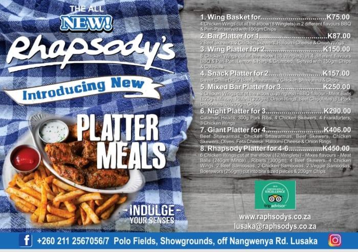 Introducing platter meals