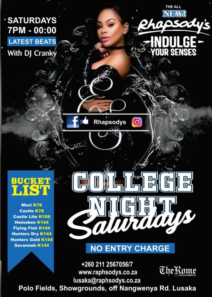 College Night - Saturdays