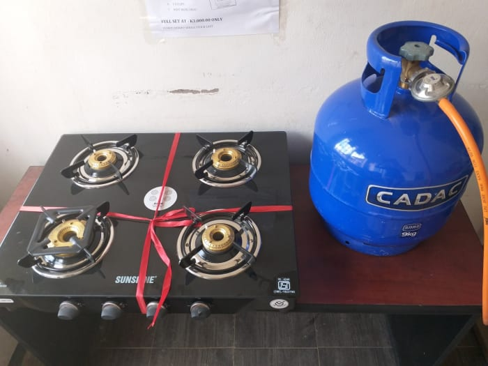 Valentines special on stove set and gas cylinder