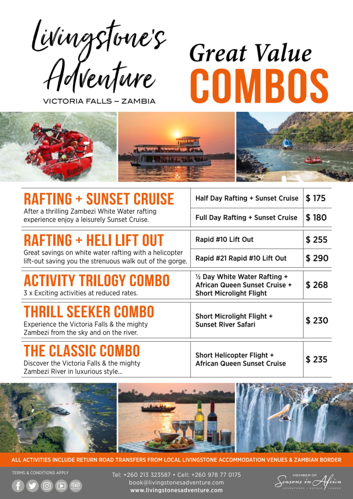 Adventure combo's and specials