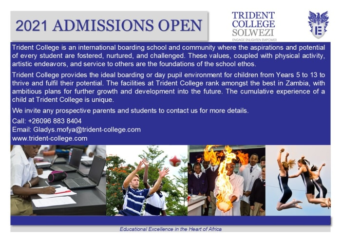 2021 Admissions open