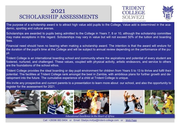 2021 Scholarship assessments