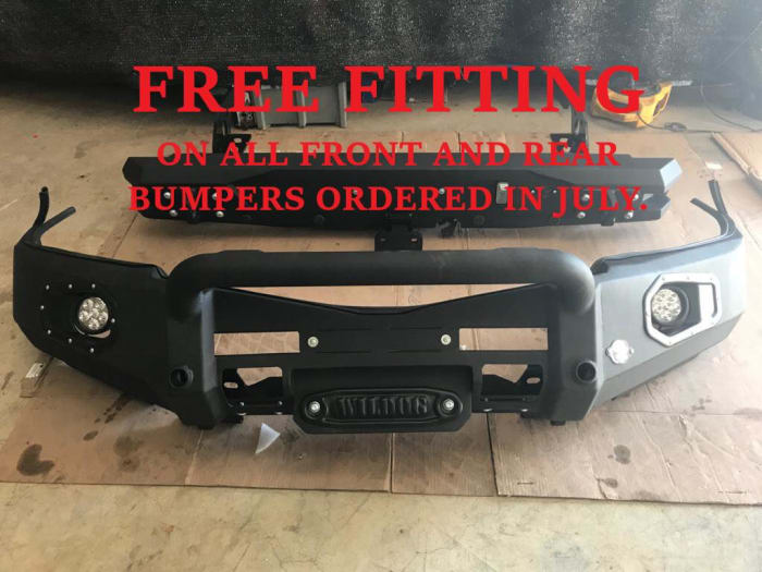 Free fitting on all front and rear bumpers ordered in July