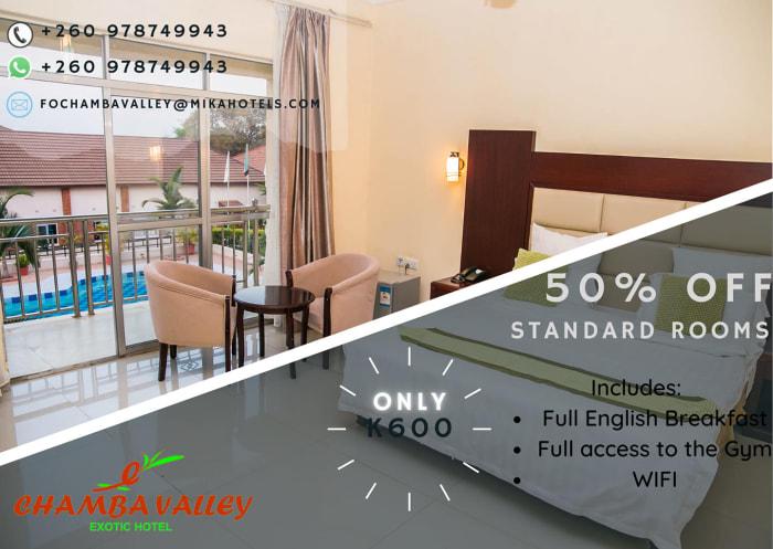50% off standard rooms