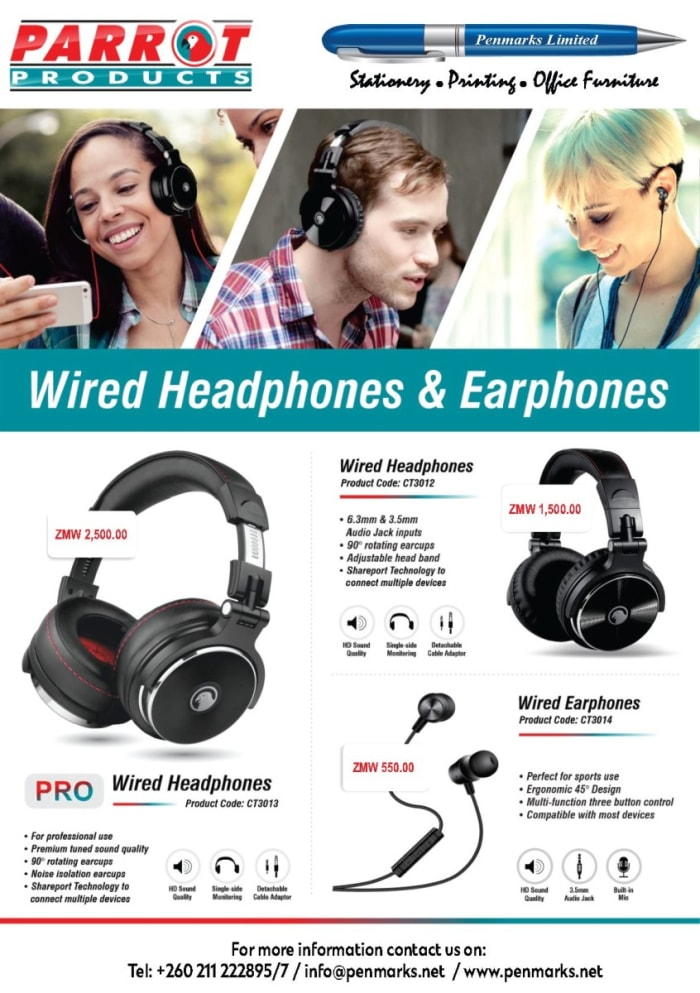 Parrot wired headphones available in stock!