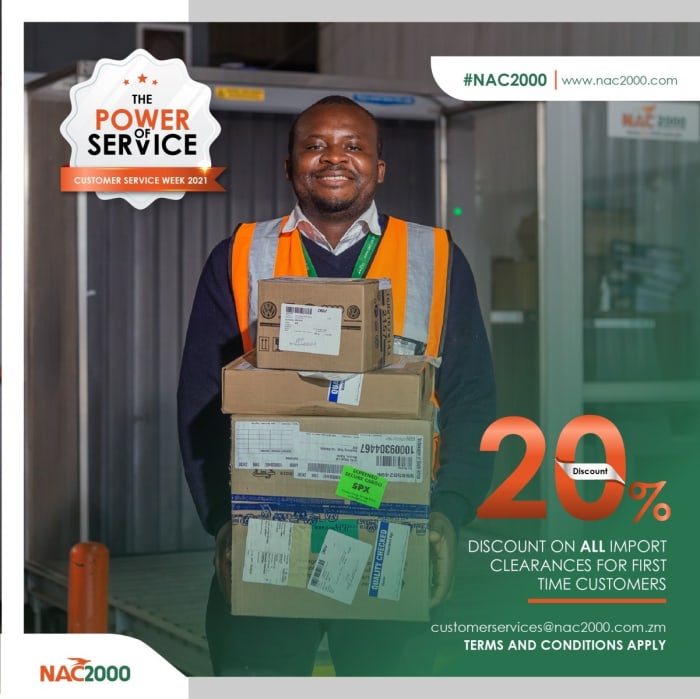 20% discount on all import clearances for first time customers