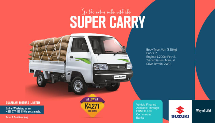 Go the extra mile with the Super Carry van