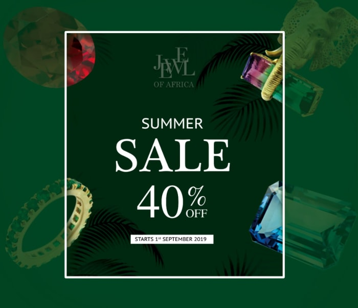 Get 40% off all Jewel of Africa jewellery while stocks last