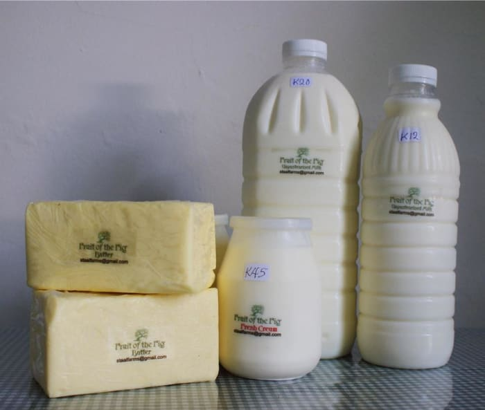 Locally produced fresh farm milk, butter, cream and yoghurt now available at Fig Tree Cafe