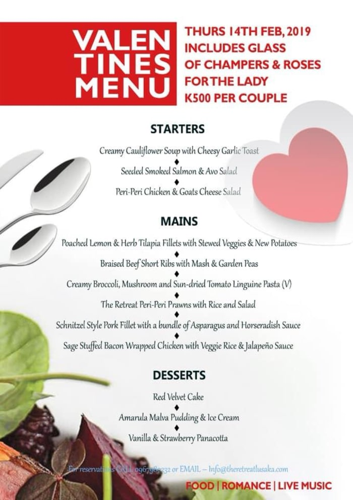 Celebrate valentines day at Retreat at Roma