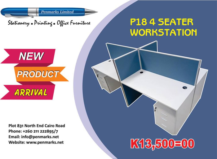 P18 4 Seater workstation now available in store