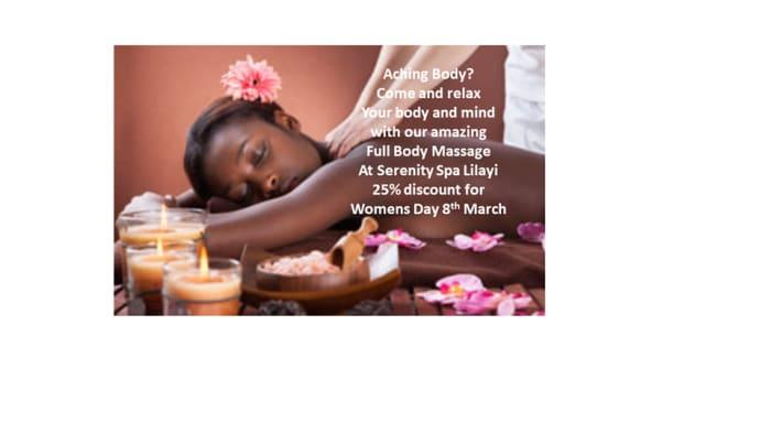 Get 25% off on full body massage