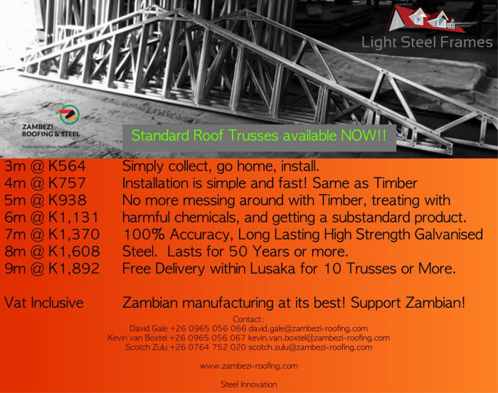 Standard roof Trusses now available in stock