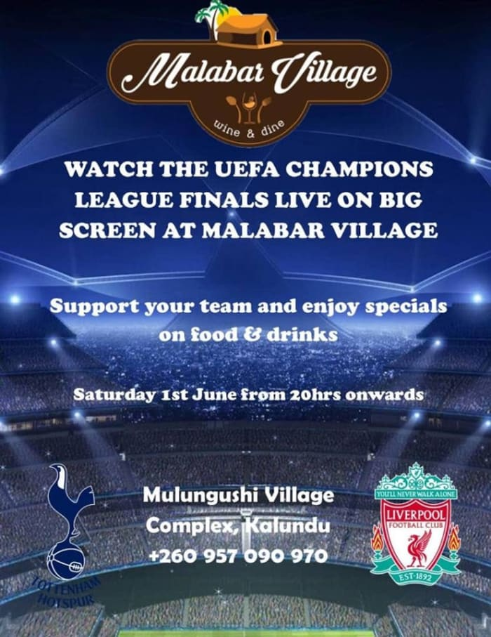 UEFA Champions League Final Live On Big Screen!!!