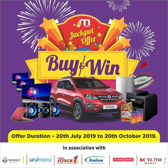 Buy fuel from any Mount Meru Filling Station and WIN!!!