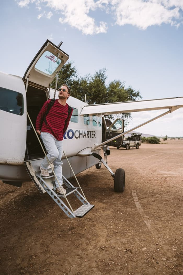 Charter a flight for a Safari
