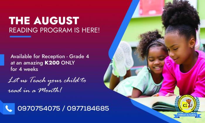 Special reading program - from reception to grade 4
