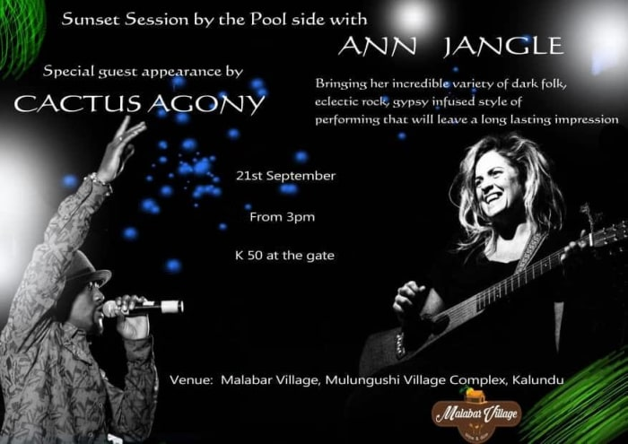 Poolside Sunset session with Ann Jangle