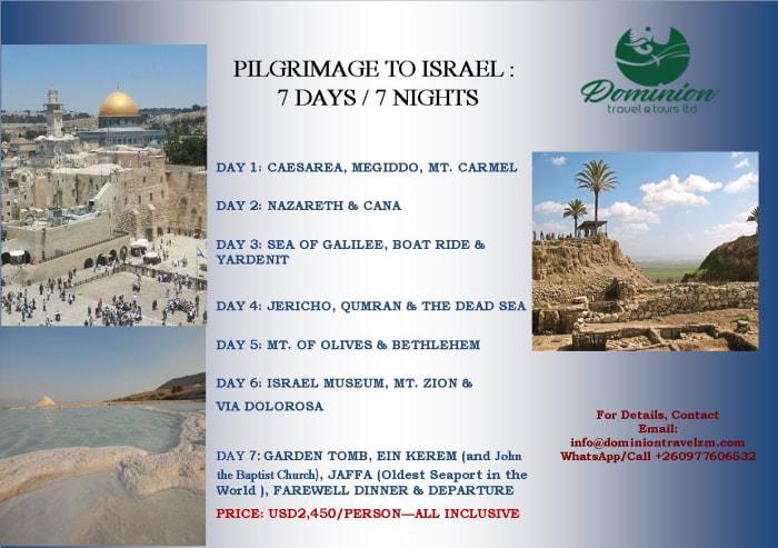 Pilgrimage to Israel 7 Days / 7 Nights