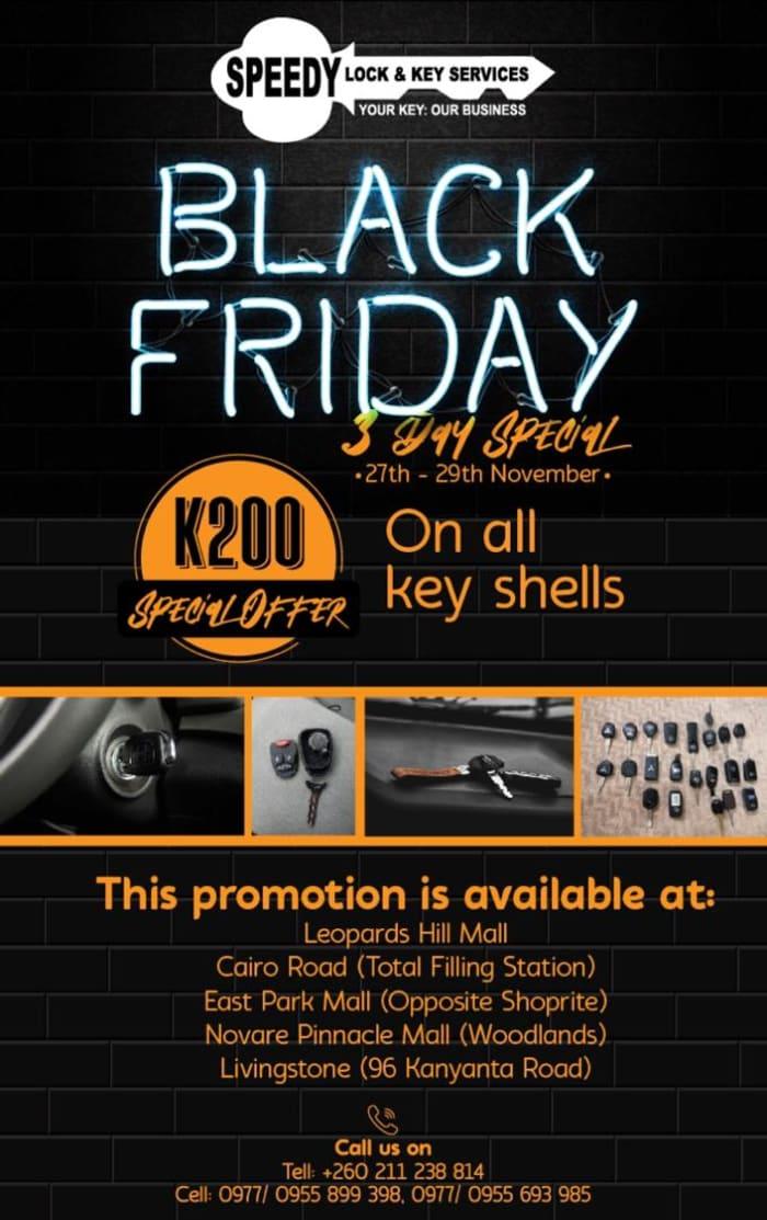 Black Friday deals - all key shells at K200