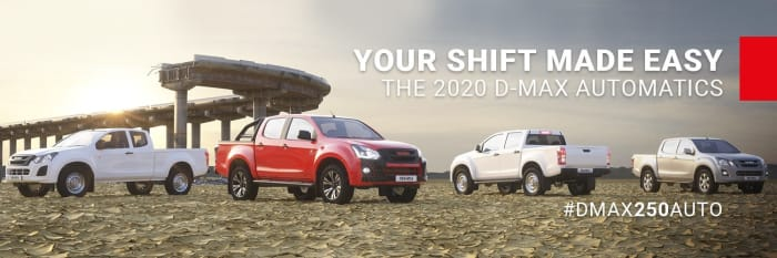 D-MAX 250 auto's now available in HI-RIDE and X-RIDER models!