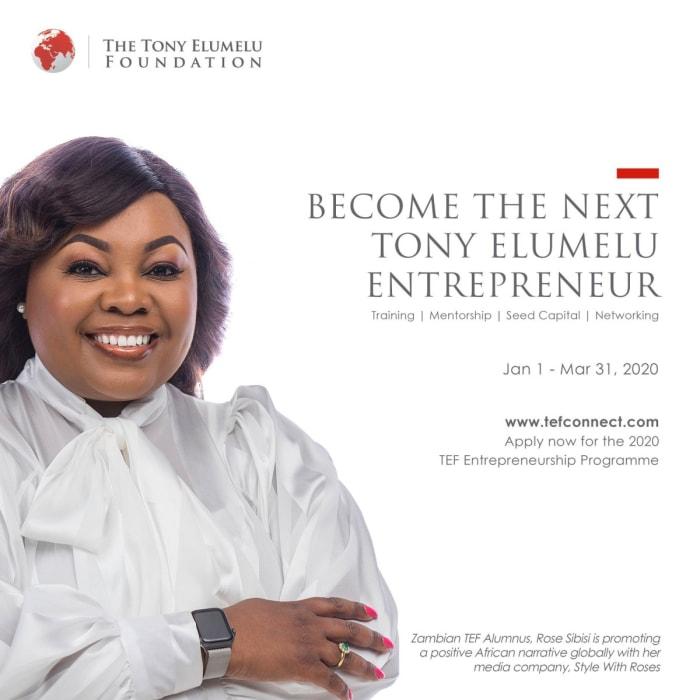 Become the next Tony Elumelu entrepreneur