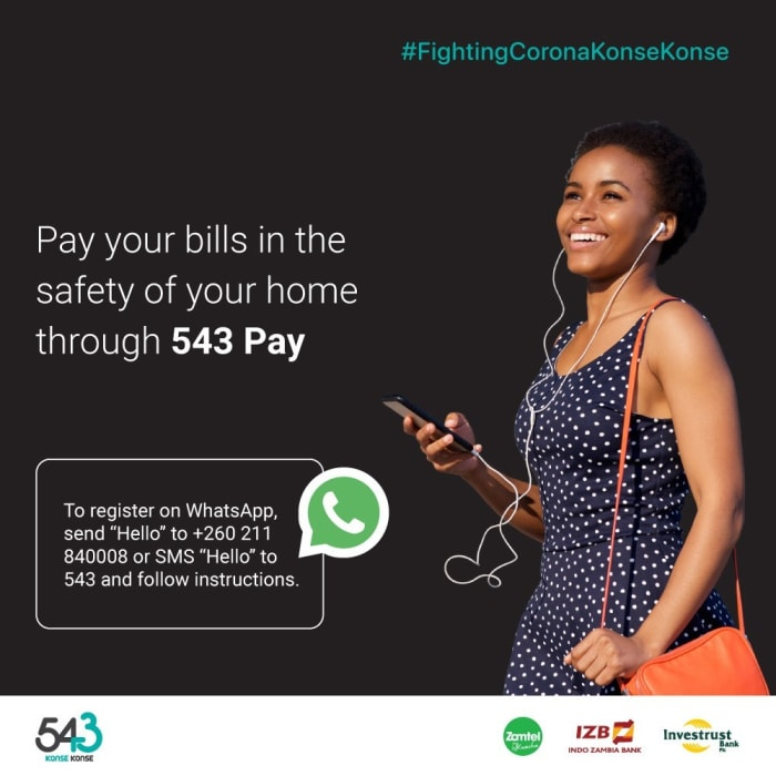 Pay your bills in the safety of your home through 543 Pay