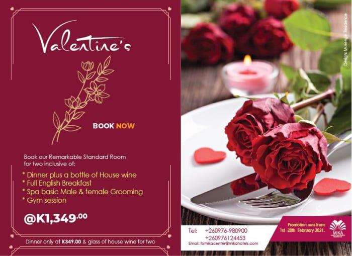 Valentines standard room special