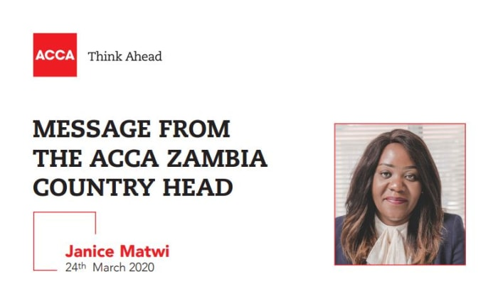 Message from the ACCA Zambia country head