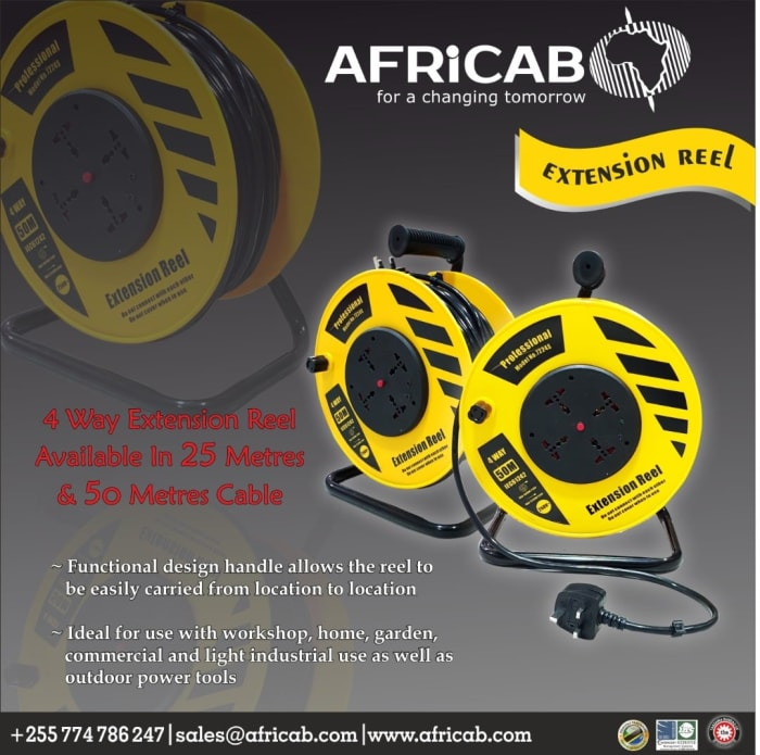 Africab brings you the 4 - way extension reel in different sizes