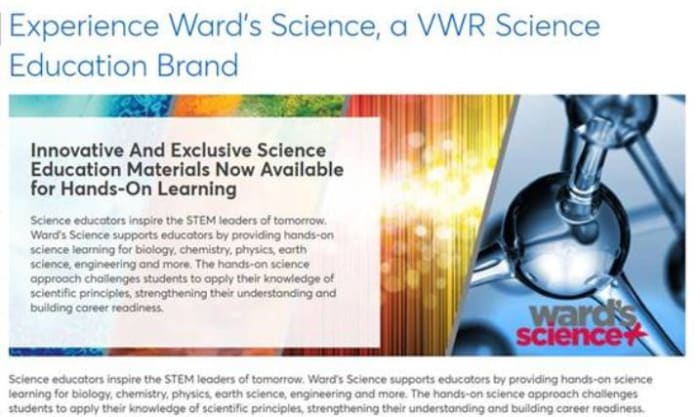 Asian Medicos Enterprise now distribute Avantor and Brand WARD Science products