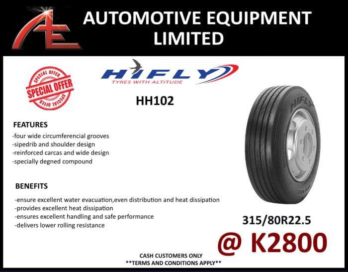 HH102 Tyres - 315/80R 22.5 at K2800