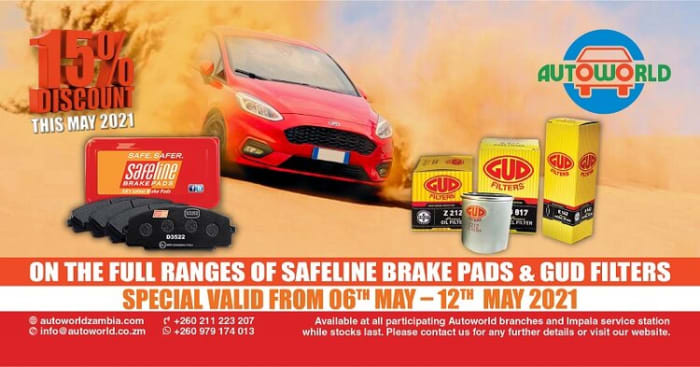 15% special on Safeline brake pads and GUD filters