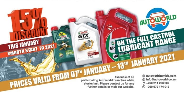 New Year engine lubricants offer from Autoworld