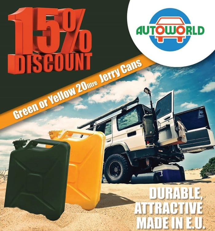 15% off 20 Liters Jerry Cans